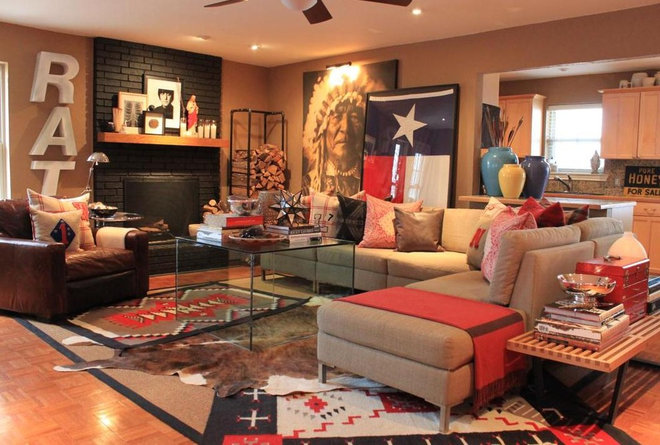 Rustic Living Room by The Cavender Diary