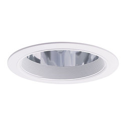 "Nora Lighting - Nora NTA-730 6"" Specular Clear Reflector with Metal Baffle and White Flange, Nta - 6"" Specular Clear Reflector with Metal Baffle and White Flange"