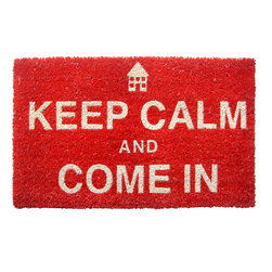 Entryways - Keep Calm Non Slip Coir Doormat - This beautifully designed doormat will enhance your entry way or patio. It's made from the highest quality all natural coconut fiber with a PVC non slip backing.