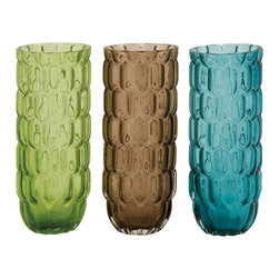 Benzara - Traditional and Lovely Style Glass Vase 3 Assorted Home Decor - Description: