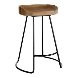 Smart and Sleek Stool - Short - Feast your eyes, and whatever else on this wood top stool with minimalist metal base. It's not as much Bauhaus as your house.