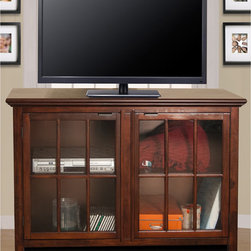 None - Canterbury Media Center - The Canterbury media center is a highly functional storage component for your TV. It includes adjustable shelf panels and pre-drilled holes in back panel for organized wire management.