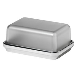 Alessi - Alessi Butter Dish - This beautiful dish inspires you to keep the margarine tub off the table, the butter wrapper under wraps. Lift the sleek cover and butter goes from everyday condiment to stylish spread.