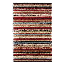 Surya - Surya Concepts Shag Rug X-6735-2171TPC - A modern translation of a classic style, the shag designs of the Concepts Collection are a playful yet elegant addition to any space. Machine made of 100% polypropylene in a color palette of pale blue, rust, deep brown, and ivory, the densely twisted pile is an exciting combination of movement and texture. With the ability to resist the wear and tear of daily life, these ingenious creations will be the centerpiece of your room for years to come.