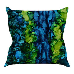 "Kess InHouse - Claire Day ""Drops"" Green Throw Pillow (20"" x 20"") - Rest among the art you love. Transform your hang out room into a hip gallery, that's also comfortable. With this pillow you can create an environment that reflects your unique style. It's amazing what a throw pillow can do to complete a room. (Kess InHouse is not responsible for pillow fighting that may occur as the result of creative stimulation)."