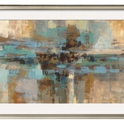 Artcom - Morning Fjord by Silvia Vassileva - Morning Fjord by Silvia Vassileva is a Framed Art Print set with a COVENTRY Champagne wood frame and a Crisp - Bright White mat.