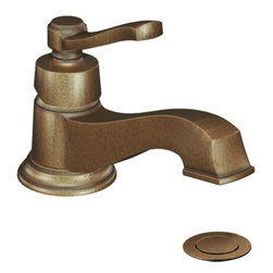 Moen - Moen S6202AZ Single Handle Low Arc Bathroom Faucet - The Rothbury series features a relaxed blend of vintage design and traditional elements that coordinate perfectly with both casual and luxurious decorating.