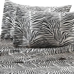 Scent-sation, Inc. - Satin Luxury Zebra Sheet Set - Wrap yourself in the silkiest satin you'll ever feel. These Satin Luxury sheet sets feature a micro-denier woven fabric and are as beautiful and complementary to your bedroom decor as they are comfortable.