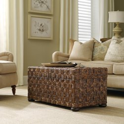 Hooker Furniture - Hooker Furniture Abacca Sliding Top Trunk 500-50-865 - Gemelina and hardwood solids with abacca are used to create this trunks exotic look. It features a removable tray.