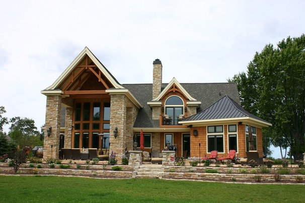 Rustic Exterior by The Quarry Mill Natural Stone Veneer