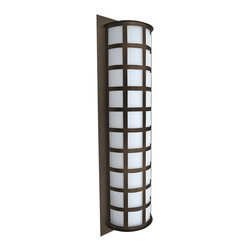 """Besa - Besa Scala 28"""" High Bronze Outdoor Wall Light - Featuring clean shapes a glossy Satin White diffuser and durable powder-coated sheet metal the Scala 28-inch outdoor wall sconce from Besa Lighting is designed to withstand the tests of time. Bronze finish. Bronze finish. White acrylic shade. Scala interior/exterior fixture. By Besa Lighting. Assembled in the USA. Rated for wet locations. Takes three 60-watt or equivalent bulbs (not included). 28"""" high. 8 3/4"""" wide. Extends 4 3/4"""" from the wall.   Bronze finish.  White acrylic shade.  Scala interior/exterior fixture.  By Besa Lighting.  Assembled in the USA.  Rated for wet locations.  Takes three 60-watt or equivalent bulbs (not included).  28"""" high.  8 3/4"""" wide.  Extends 4 3/4"""" from the wall."""
