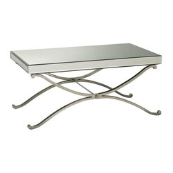 Cyan Design - Cyan Design Vogue Mirror Coffee Table, Chrome - -Chrome Finish