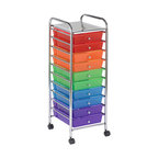 Ecr4kids - Ecr4Kids Home Indoor Kids Room 10-Drawer Mobile Organizer (Assorted) - *Color: Assorted.