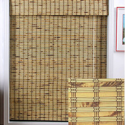 Arlo Blinds - Rustique Bamboo Roman Shade (27 in. x 54 in.) - Introduce a casual flair to your decor with this natural bamboo Roman shade. This woven wood shade is the ideal way to update the look of any room while carefully filtering light to prevent glare. Natural bamboo construction provides easy maintenance.