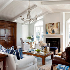 Beach Style Living Room by Barclay Butera Interiors