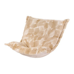 Luscious Natural Puff Chair Cushion - The Wild Side of Life! Extra Puff Cushions in a Luscious are a great way to change your look without the expense of buying a whole new chair! Puff Cushions fit Scroll & Rocker frames. This pattern has an enticingly cozy feel. Get wild with a Luscious Puff Cushion.