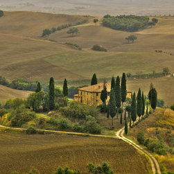 Murals Your Way - San Quirico Val D' Orcia Valley, Tuscany Vinyl Wall Decal, Wall Art - Created by Richard Desmarais. San Quirico Val D' Orcia Valley, Tuscany wil be a great addition to any room in your home or business