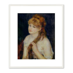 Young Woman Braiding her Hair, 1876 - Pierre-Auguste Renoir, Young Woman Braiding her Hair, 1876. National Gallery of Art.