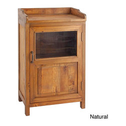 Antique Revival - Country-Style Display Cabinet - The beautiful and simplistic Display Cabinet from the Perennial Legacy Home series,100-percent handcrafted from reclaimed solid elm wood. Compact yet roomy interior features a shelf across the middle.