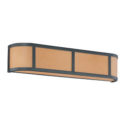 Aged Bronze Energy Star 3 Light Wall Sconce With Parchment Glass - Condition: New - in box