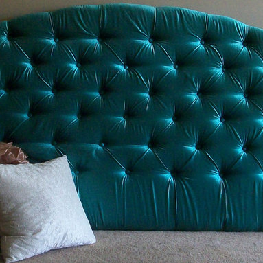 Custom Upholstered Headboard By Chic My Room - Customize a tufted headboard for an inexpensive price!