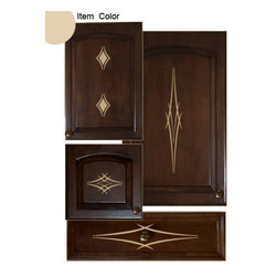 Kitchen Cabinet Decals - Barbs Theme - Cabinet Accents provides people with an easy and convenient way of decorating their kitchen without having to make permanent marks. This innovative product is a decorative design kit that is used to embellish cabinet door and drawer faces. Each themed package contains multiple vinyl decals specially sized to fit within the parameters of standard cabinet doors and drawers. By using this product, people can add a touch of their own personal style and color in a matter of minutes.