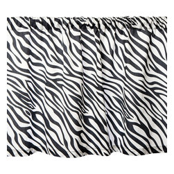 Sin in Linen - Zebra Valance - 35 x 19 Inches - Go wild in the kitchen with these black and white zebra print kitchen linens!