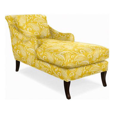 Charleston Chaise, Imperial Paisley Sun -
