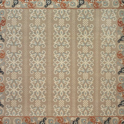 Poetic Wanderlust Tamar Collection - Soumak weave hand knotted in India with a high-low, premium hand spun wool face.