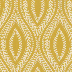 Waverly Carino Fabric, Buttercup - This medium-size print would be great for a chair (I'd love it on a spindle chair) or a headboard. You could even do a sofa, as long as it is tailored and has clean lines.