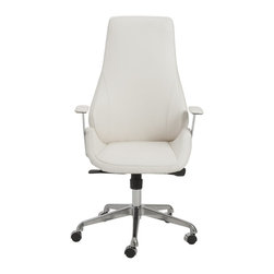 Euro Style - Euro Style Bergen High Back Office Chair X-THW47400 - This is a very modern looking chair with an ingenious seat and back. It looks like one graceful piece. But for added comfort and give, it's actually two pieces, separate seats and a backs. There is a space where the two would ordinarily come together. The result is remarkable comfort in very classy chair. Gorgeous.
