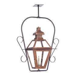 Elk Lighting - Outdoor Gas Ceiling Lantern Bayou in an Aged Copper - Outdoor gas ceiling lantern 7920-WP by ELK Lighting. Outdoor gas ceiling lantern Bayou Collection in solid brass in an aged copper finish