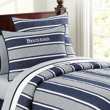 Seaford Quilt - For a sophisticated boys' room or a nautical guest bedroom, this quilt would be a perfect fit.