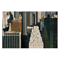 Custom Photo Factory - Manhattan Buildings Canvas Wall Art - Manhattan Buildings  Size: 20 Inches x 30 Inches . Ready to Hang on 1.5 Inch Thick Wooden Frame. 30 Day Money Back Guarantee. Made in America-Los Angeles, CA. High Quality, Archival Museum Grade Canvas. Will last 150 Plus Years Without Fading. High quality canvas art print using archival inks and museum grade canvas. Archival quality canvas print will last over 150 years without fading. Canvas reproduction comes in different sizes. Gallery-wrapped style: the entire print is wrapped around 1.5 inch thick wooden frame. We use the highest quality pine wood available. By purchasing this canvas art photo, you agree it's for personal use only and it's not for republication, re-transmission, reproduction or other use.