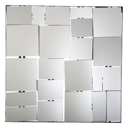 Perspective Mirror - This unique mirror is made up of deconstructed boxes put together to make style and design.