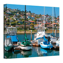 ArtWall - George Zucconi 'Point Loma, SD' Wrapped Canvas - Artist: George Zucconi Title: Point Loma, SD Product type: Wrapped Canvas