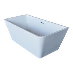 Arista - Saint Paul 32 x 67 Rectangle Acrylic Freestanding Soaker Bathtub  Center Drain - DESCRIPTION