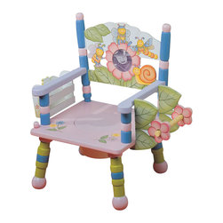 Teamson Design - Teamson Kids Hand Painted Kids Potty Chair with Music - Teamson Design - Educational Toys - W5093A. This potty chair has a beautiful hand painted design with a picture frame holder! Make potty training more fun and enjoyable - ask baby to pull the string and voila! Music in the air!