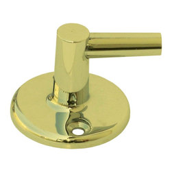 Renovators Supply - Shower Parts Gold PVD Brass Shower Pin Bracket Part Only - Wall mount shower Pin Bracket: Mount this bracket to you shower wall. Swivels shower arm & holds it in place on the wall. Solid brass construction with Gold PVD finish. Mounting screws not included.