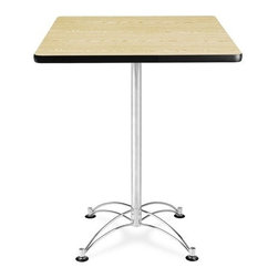OFM - OFM 30 Square Cafe Height Table - Chrome Base - This 30 square table looks elegant in both lunch and meeting rooms and looks great with the model 310 stack chairs. The banding makes the edges smooth and gives it a finished appearance. The honeycomb core makes the table both lightweight and sturdy.