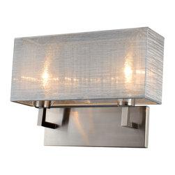 Bromi Design - Bromi Design Prescott Double Silk Silver Wall Sconce - Bromi Design