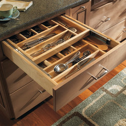 Schrock Wood Tiered Cutlery Divider - You'll find more storage and less wasted space with a Tiered Cutlery Divider.