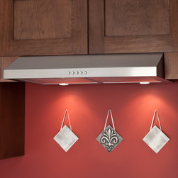 """30"""" Bastia Series Under-Cabinet Range Hood - 280 CFM - Stainless Steel - Install the Bastia Series range hood to the bottom of your cabinet for premium stovetop ventilation. Made of stainless steel, this under cabinet range hood will add a contemporary style to your kitchen."""