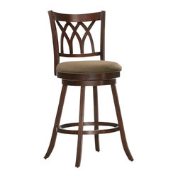 "ACMACM96218 - Tabib Collection Espresso Finish Wood Swivel Bar Stool with Padded Seating - Tabib collection espresso finish wood swivel bar stool with padded seating. Stool measures 29""H to the seat. Some assembly required."