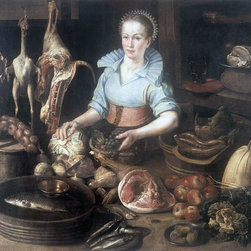 """Pieter Cornelisz Van Rijck The Kitchen Maid - 16"""" x 20"""" Premium Archival Print - 16"""" x 20"""" Pieter Cornelisz Van Rijck The Kitchen Maid premium archival print reproduced to meet museum quality standards. Our museum quality archival prints are produced using high-precision print technology for a more accurate reproduction printed on high quality, heavyweight matte presentation paper with fade-resistant, archival inks. Our progressive business model allows us to offer works of art to you at the best wholesale pricing, significantly less than art gallery prices, affordable to all. This line of artwork is produced with extra white border space (if you choose to have it framed, for your framer to work with to frame properly or utilize a larger mat and/or frame).  We present a comprehensive collection of exceptional art reproductions byPieter Cornelisz Van Rijck."""