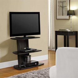 None - Galaxy 32-inch Espresso TV Stand - Designed to hold a TV up to 32 inches wide,the Galaxy media stand also offers plentiful space for storing a wide variety of A/V components and media items. Finished in a contemporary espresso color,this sleek stand suits a variety of decor styles.