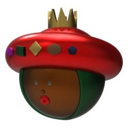 "Alessi - Alessi ""Baldassarre"" Christmas Bauble - The King of your Christmas decorations is brightly crowned and made from blown glass. With an expression of pure wonder, he brings the joy of the holidays with him wherever he goes."