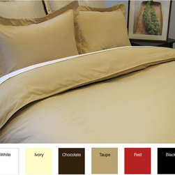None - Microfiber 3-piece Duvet Cover Set - Add some warmth and color to your bedroom with this elegant three-piece microfiber duvet cover set. This contemporary cover set is made comfortable with polyester and features the color options of black,brown,ivory,red,tan,and white.