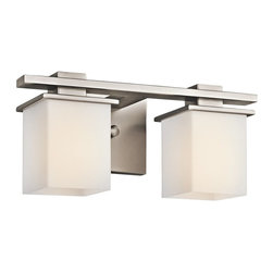 KICHLER - KICHLER 45150AP Tully Transitional 2-Light Wall Sconce - May be installed with glass Up or Down
