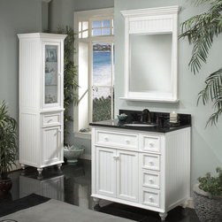 "White Bathroom Vanities - Sagehill Designs Cr3621d 36"" Bathroom Vanity From The Cottage Retreat Collection"